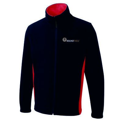 Round Table Two Tone Full Zip Fleece Jacket Thumbnail
